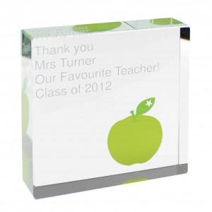Teachers Large Crystal Token