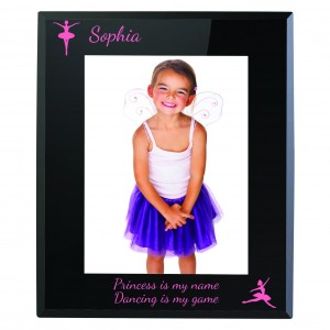 Ballerina Black Glass 5x7 Photo Frame