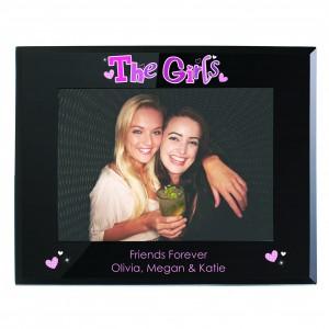 The Girls Black Glass 5x7 Photo Frame