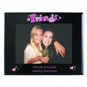 Friends Black Glass 5x7 Photo Frame