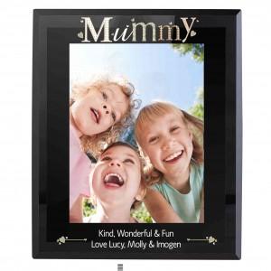 Mummy Black Glass 5x7 Photo Frame