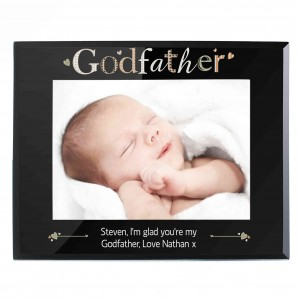Godfather Black Glass 5x7 Photo Frame
