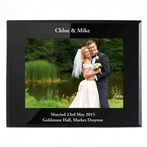 Landscape Black Glass Photo Frame 5x7