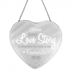 I Love You Heart Mirror