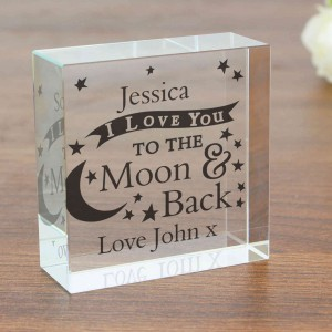 To the Moon and Back... Medium Crystal Token