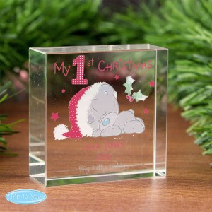 Me To You My 1st Christmas Medium Crystal Token