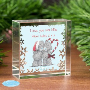 Me To You Christmas Couple Medium Crystal Token