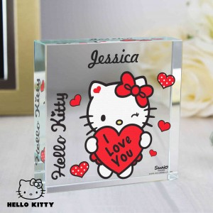 Hello Kitty I Love You Large Crystal Token