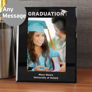 5x7 Graduation Black Glass Photo Frame