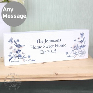 Country Diary Blue Blossom Mantel Block