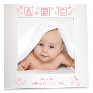Pink ABC White 6x4 Photo Frame
