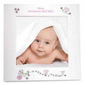 Whimsical Pram White 6x4 Photo Frame