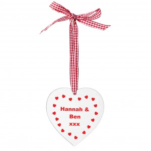 Hearts Design Wooden Heart Shaped Decoration