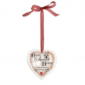 Home Sweet Home Wooden Heart Shaped Decoration