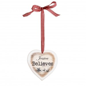 I Believe Wooden Heart Shaped Decoration