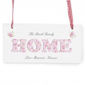 Floral Design Home Wooden Sign