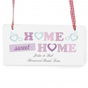 Floral Design Home Wooden Sign
