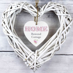 Floral Design Home Wicker Heart Decoration