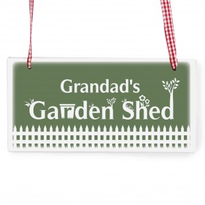 Garden Shed Wooden Rectangle Sign