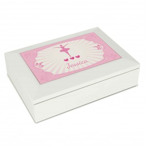 Ballerina White Jewellery Box