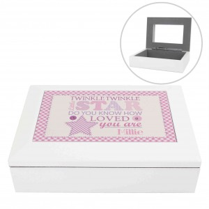 Twinkle Girls White Keepsake Box