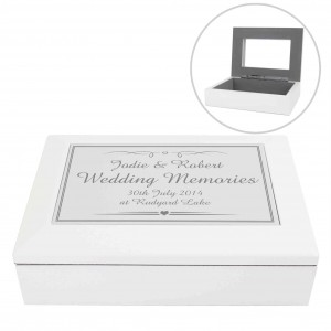 Silver Elegant Wooden Jewellery Box