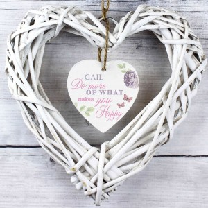 Secret Garden Wicker Heart Decoration