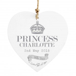 Royal Crown Wooden Heart Decoration