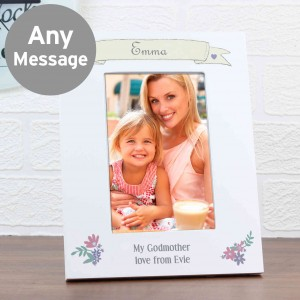 Garden Bloom 6x4 White Photo Frame