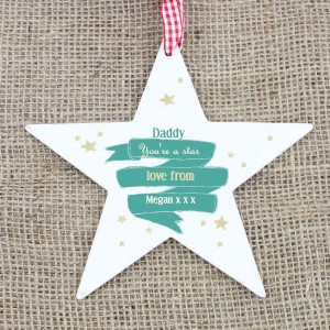 Shining Star Wooden Star Decoration