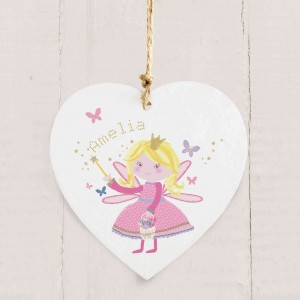 Fairy Wooden Heart Decoration
