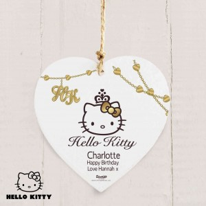 Hello Kitty Chic Wooden Heart Decoration