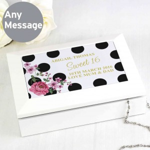 Floral Dot Jewellery Box