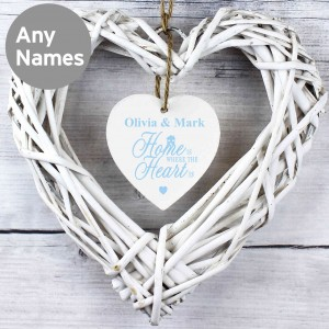 Home is Where... Wicker Heart Decoration