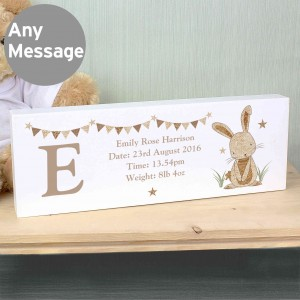 Hessian Rabbit Mantel Block