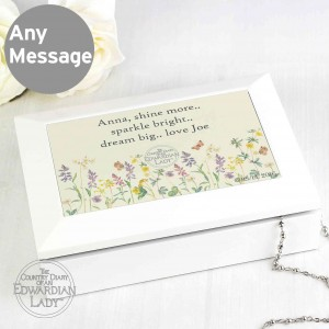 Country Diary Wild Flowers Wooden Jewellery Box