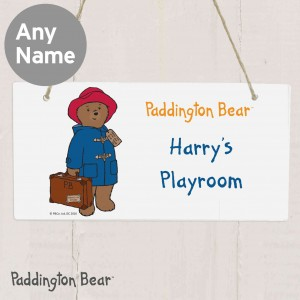 Paddington Bear Wooden Sign