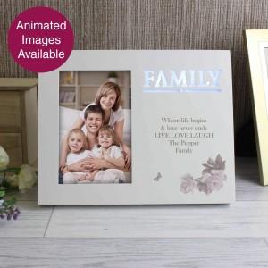 Family Floral 6x4 Light Up Frame