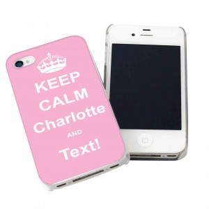 Pink Keep Calm iPhone Case