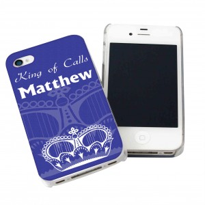 Blue Crown iPhone Case