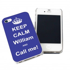Blue Keep Calm iPhone Case