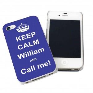 Blue Keep Calm iPhone Case