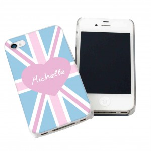 Pink Union Jack iPhone Case