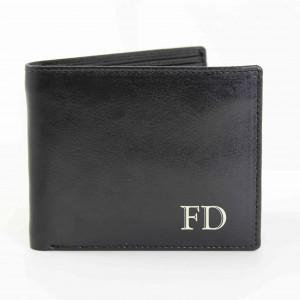 Black Initials Wallet