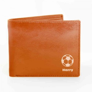 Tan Football Wallet