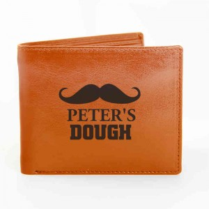Tan Moustache Wallet
