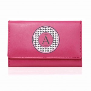 Pink Houndstooth Purse