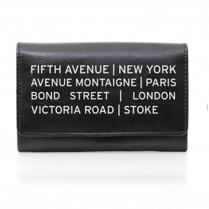 Black Shopping Destination Purse
