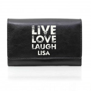 Black Live Laugh Love Purse