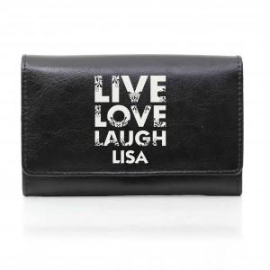 Black Live Laugh Love Purse